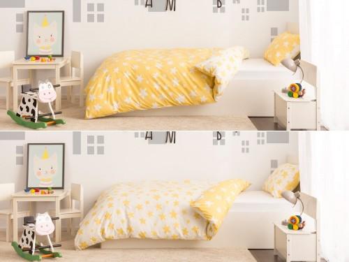 Спален комплект Стела - жълт