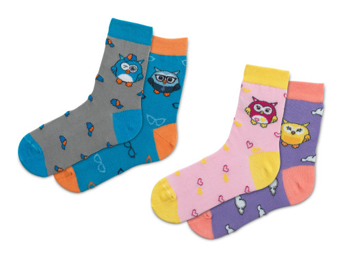 Набір шкарпеток Емоційні Совенятка (2 пари)