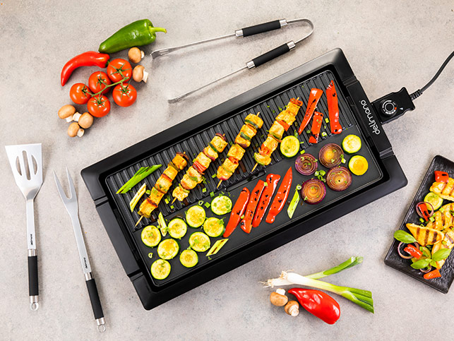 Delimano Table Grill And Griddle Deluxe Noir
